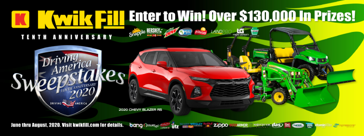 Kwik Fill Driving America Sweepstakes Main Graphic
