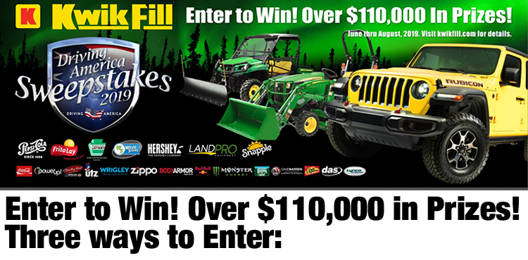2019 Kwik Fill Driving America Sweepstakes