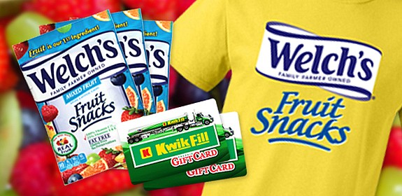 2018 Welch's Fruit Snacks Giveaway